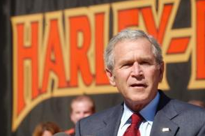 President Bush at Harley-Davidson