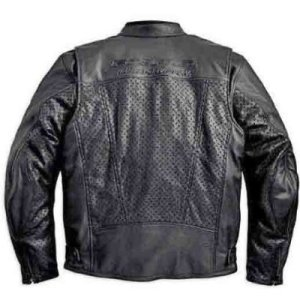 FXRG Perforated Leather Jacket - Back