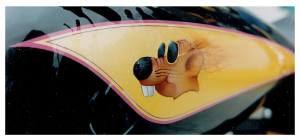 Hamsters Logo on Fuel Tank