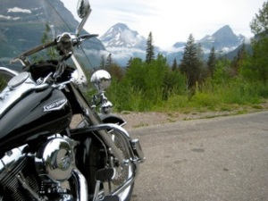 "H-D on the ""Sun Road"" - Glacier"