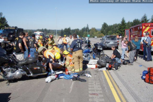Brothers Speed Motorcycle Club Accident on I-5
