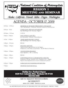 NCOM Agenda -- Portland, OR