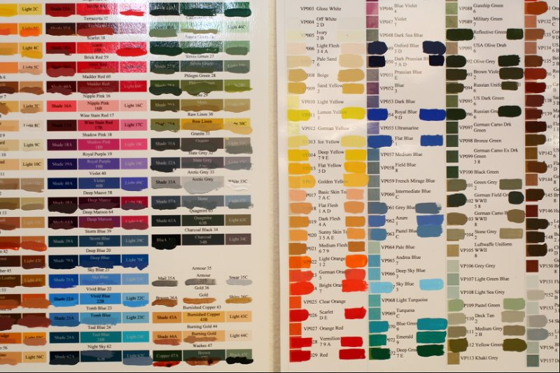 Harley Paint Color Chart