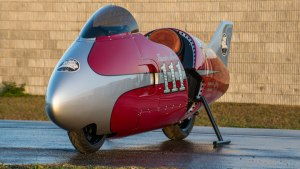 "Spirit of Munro -- Named in honor of Burt Munro's ""Munro Special,"""