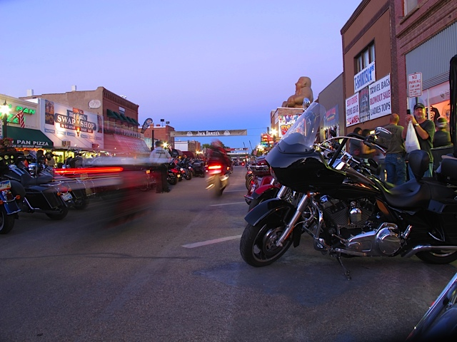 Main Street Sturgis at Dusk