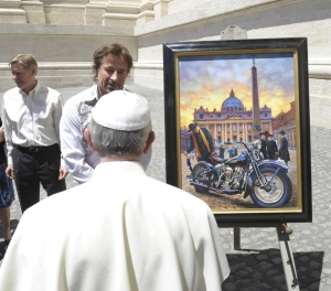 David Uhl's, Pope Francis and the Chance Encounter painting