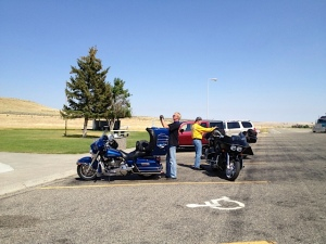 Rest stop in route to Billings, MT.