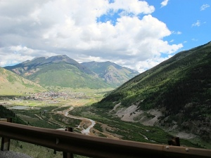 Looking down onto Silverton, Colorado