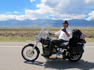 """MC"" Enjoying The NV Desert And Ride On Hwy 93"