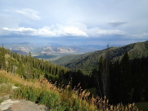 Looking down on Jackson, WY