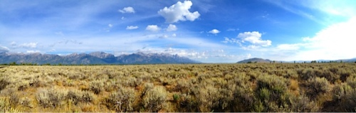 Pano of Grand Teton's