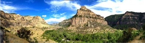 Pano of Ten Sleep Canyon