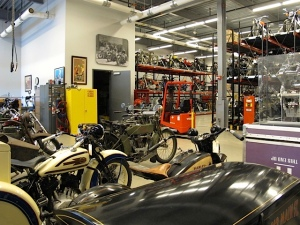 Inside the archive area of the H-D Museum
