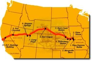 Pony Express Ride Map