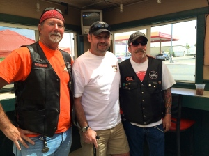 MC (right) at Laughlin River Run 2014 with Shark Week III Crew