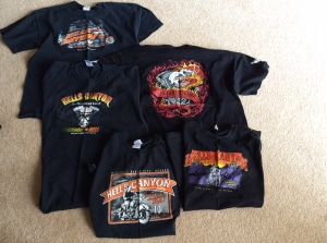 Multiple Years of Hells Canyon Rally T-shirts