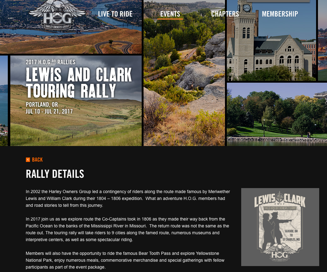 Lewis And Clark Touring Rally Northwest Harley Blog - Us hog rallies 2017 map