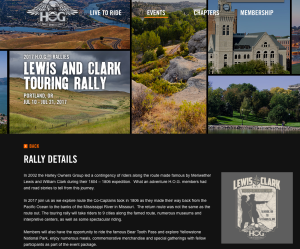 HOG Lewis And Clark Touring Rally